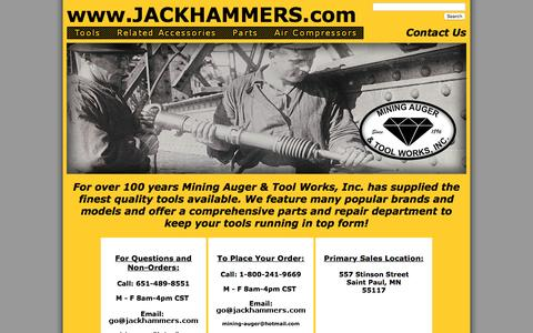 Screenshot of About Page Contact Page jackhammer.com - Contact Us - Jackhammers.com - captured Jan. 19, 2016
