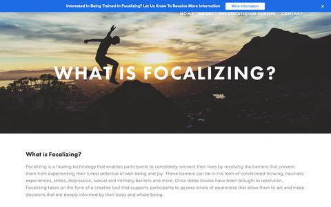 Screenshot of About Page theinstitute.org - What is Focalizing? — The Focalizing Institute - captured Feb. 13, 2019