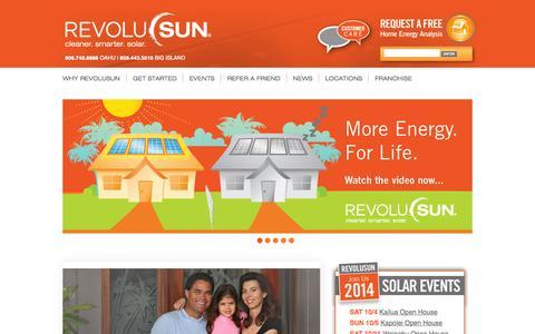 Screenshot of Home Page Locations Page revolusun.com - RevoluSun - captured Oct. 5, 2014