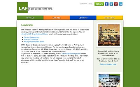 Screenshot of Team Page lafchicago.org - Leadership - LAF - captured Oct. 1, 2014
