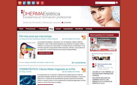 Screenshot of Blog dhermaestetica.com - Prensa y Blog | Dhermaestética Mar del Plata - captured Feb. 9, 2016