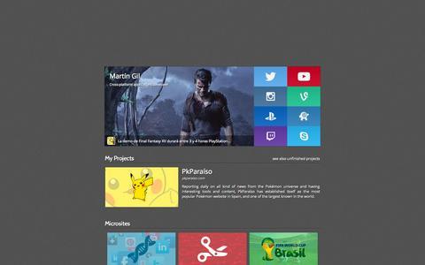 Screenshot of Home Page martingil.es - Martín Gil - captured Sept. 23, 2014