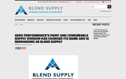 Screenshot of Blog blendsupply.com - Blog - captured Sept. 30, 2014