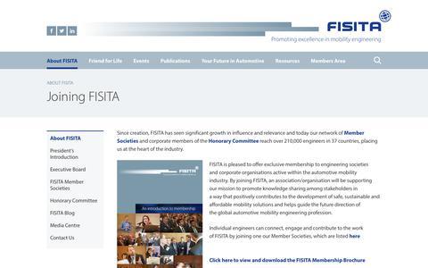 Screenshot of Signup Page fisita.com - Joining FISITA - FISITA - captured June 5, 2017
