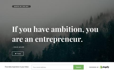 Screenshot of Landing Page shopify.com - Motivational Quotes - Inspirational Quotes - captured Aug. 18, 2016
