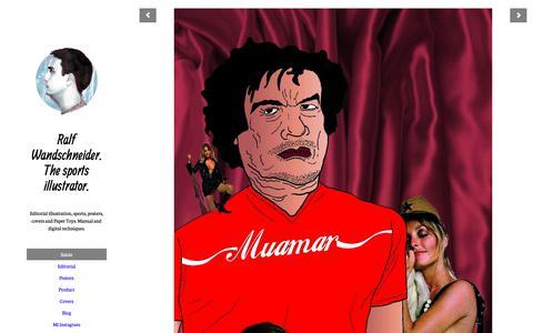 Screenshot of Home Page herrralf.es - Ralf Wandschneider. The sports illustrator. - captured Dec. 8, 2018