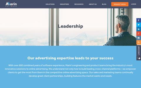 Screenshot of Team Page marinsoftware.com - Leadership – Senior Management & Board of Directors   Marin Software - captured Dec. 5, 2017