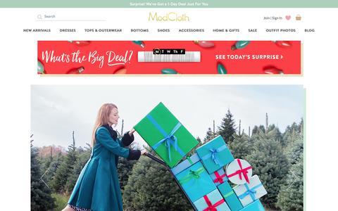 Screenshot of Home Page modcloth.com - Unique & Cute Clothes, Accessories & Decor | ModCloth - captured Nov. 9, 2015