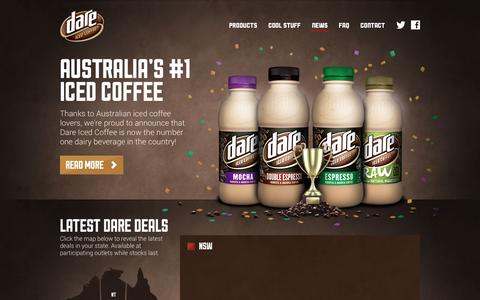 Screenshot of Press Page dareicedcoffee.com.au - Dare Iced Coffee – News - captured March 13, 2016