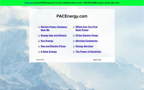 Screenshot of Home Page pacenergy.com - PACEnergy.com - captured Sept. 26, 2018