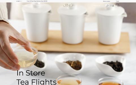 Screenshot of Home Page jingtea.com - JING Tea   The Definitive Tea Experience   Buy Tea & Teaware - captured Nov. 13, 2019