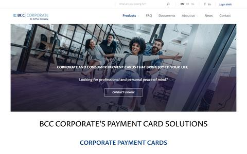 Screenshot of Products Page bcc-corporate.be - Business and consumer payment cards that fit your needs! | BCC Corporate - captured March 4, 2018