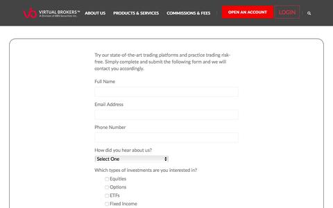 Screenshot of Trial Page virtualbrokers.com - FreeTrial - virtualbrokers - captured Sept. 28, 2019