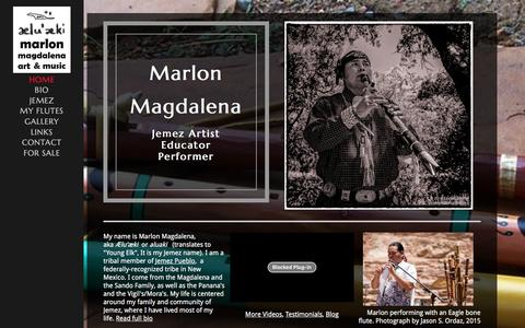 Screenshot of Home Page aluaki.com - Marlon Magdalena Art & Music - captured June 6, 2016