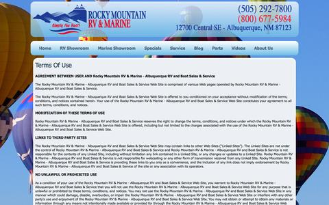 Screenshot of Terms Page rmrv.com - Rocky Mountain RV & Marine - Albuquerque New Mexico RV and Boat Sales & Service - captured Sept. 19, 2014
