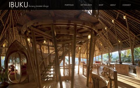 Screenshot of Home Page ibuku.com - Ibuku Bamboo Architecture and Design - captured Dec. 18, 2015