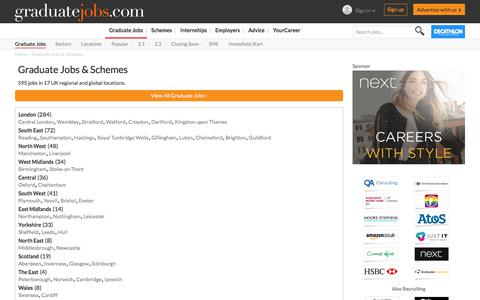 Screenshot of Locations Page graduate-jobs.com - Graduate Jobs & Schemes | graduate-jobs.com - captured Sept. 18, 2017