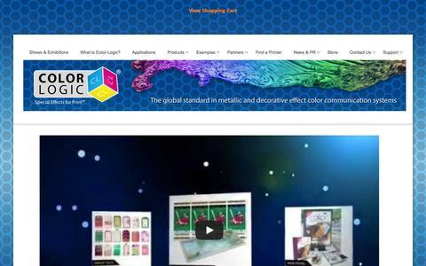 Screenshot of Home Page color-logic.com - COLOR-LOGIC   Special Effects for Print - captured Jan. 29, 2016
