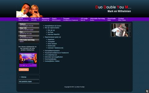 Screenshot of Site Map Page duowm.nl - Sitemap - captured Oct. 5, 2014