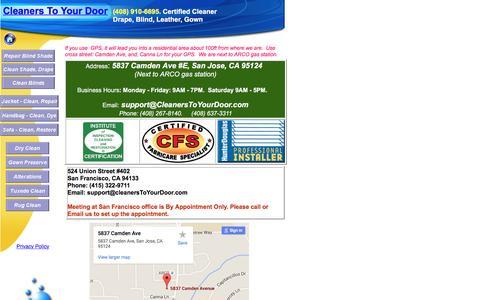 Screenshot of Contact Page cleanerstoyourdoor.com - Contact Us| Cleaners To Your Door - captured July 13, 2016