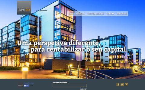 Screenshot of Home Page primeria.pt - Prime Ria - captured Jan. 21, 2015