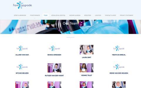 Screenshot of Team Page formupgrade.nl - Ons Team – Formupgrade - captured Nov. 22, 2018