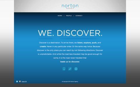 Screenshot of Home Page nortonadvertising.com - Norton Agency - captured Oct. 1, 2014