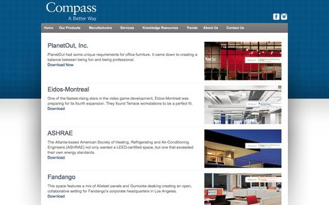 Screenshot of Case Studies Page compass-office.com - Case Studies   Compass Office Solutions - captured Oct. 2, 2014