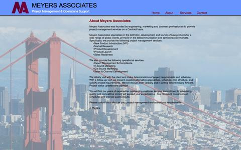 Screenshot of About Page meyers-associates.com - About Meyers Associates - captured Oct. 27, 2014