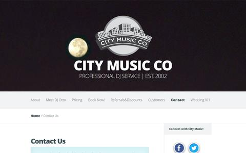 Screenshot of Contact Page citymusic.us - Contact Us | City Music Co - captured Oct. 27, 2014