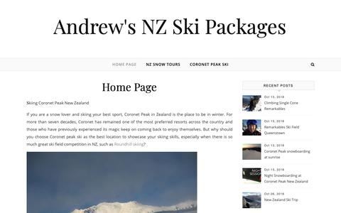 Screenshot of Home Page standrewsbandbs.com - Andrew's NZ Ski Packages - captured Oct. 18, 2018