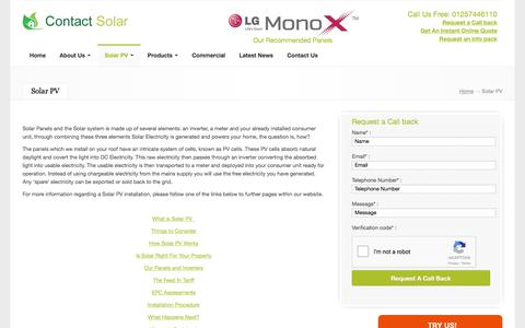 Screenshot of Products Page contact-solar.co.uk - Products - Solar system | Solar Panels | Contact-Solar - captured March 3, 2018