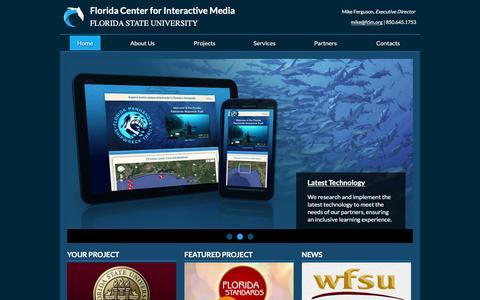 Screenshot of Home Page fcim.org - Florida Center for Interactive Media - captured Feb. 10, 2016