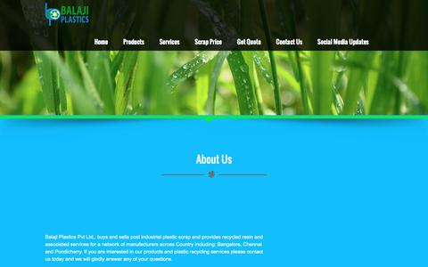 Screenshot of About Page balajiplastics.com - About Us - Balaji Plastics - captured July 28, 2016