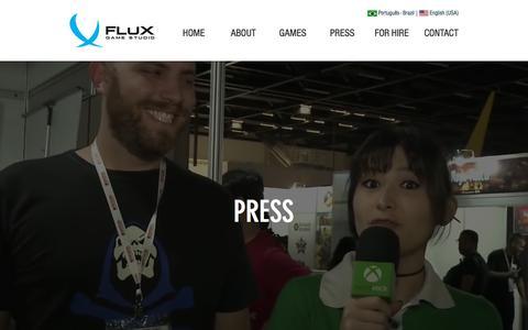 Screenshot of Press Page fluxgamestudio.com - Flux Game Studio - captured Aug. 18, 2018