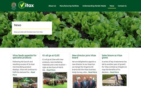 Screenshot of Press Page vitax.co.uk - News - captured Oct. 20, 2018