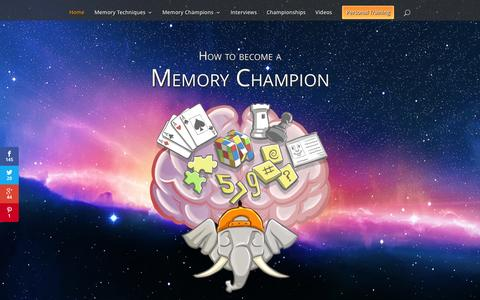Screenshot of Home Page memory-sports.com - Memory-Sports | How to become a memory champion - captured Oct. 9, 2015