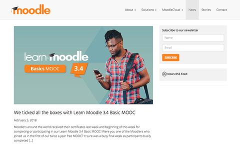 News • Latest Updates and Press • Moodle