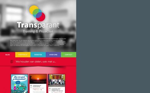 Screenshot of Home Page Contact Page transparanttraining.nl - Agressie los je samen op met de expert in omgaan met agressie. Erkende aanpak, Veilige publieke taak award | Training & Projecten - captured Oct. 1, 2014