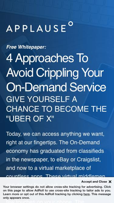 Whitepaper: 4 Approaches To Avoid Crippling Your On-Demand Service
