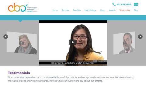 Screenshot of Testimonials Page cbd-x.com - Testimonials – CBD-x - captured Nov. 21, 2017