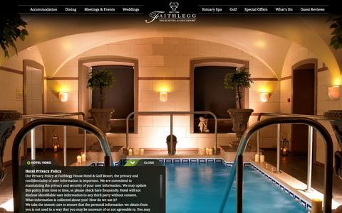 Screenshot of Privacy Page faithlegg.com captured Jan. 20, 2016