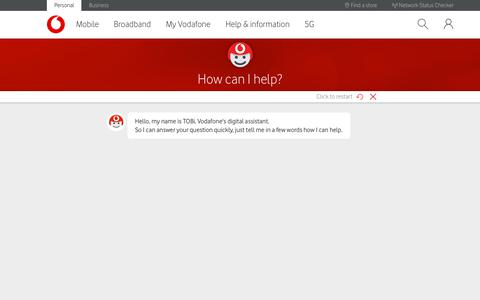 Screenshot of Contact Page vodafone.co.uk - How to get in touch with Vodafone - captured Sept. 20, 2019