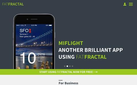 Screenshot of Home Page fatfractal.com - FatFractal   FatFractal Revolution - captured Jan. 8, 2016