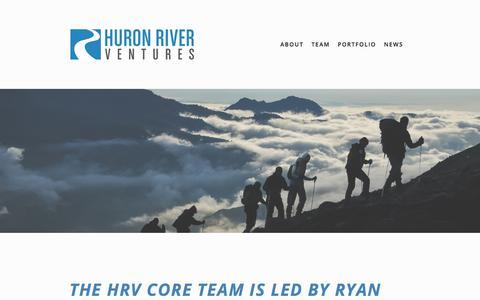 Screenshot of Team Page huronrivervc.com - Core Team — Huron River Ventures - captured Sept. 19, 2017