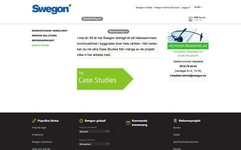 Screenshot of Case Studies Page swegon.com - Swegon - Case Studies - captured Feb. 2, 2018