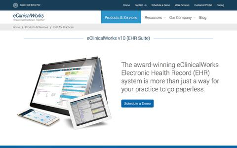EHR for Practices - eClinicalWorks