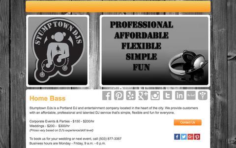 Screenshot of Home Page stumptowndjs.com - Stumptown DJs - Wedding DJ, Party DJ, Disc Jockeys - captured Feb. 26, 2016