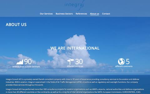 Screenshot of About Page integra.dk - About us   Integra Consult   International   Aviation   - captured Nov. 17, 2016