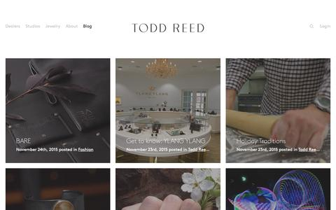 Screenshot of Blog toddreed.com - Blog – Todd Reed – Raw Elegance - captured Dec. 1, 2015